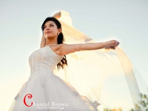 sun flare bridal portrait session Plano wedding photographer