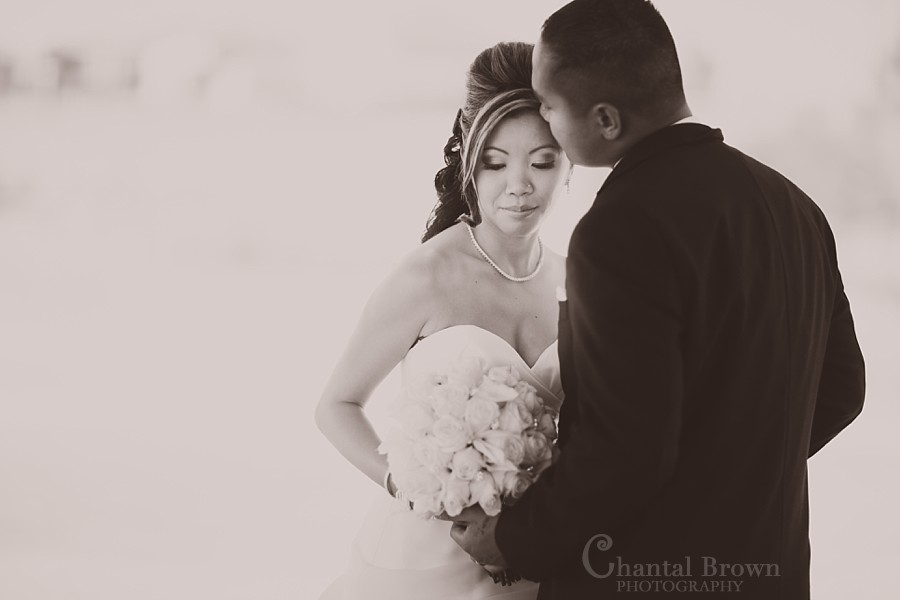 Dallas Ft Worth Cambodian Wedding bride and groom black and white