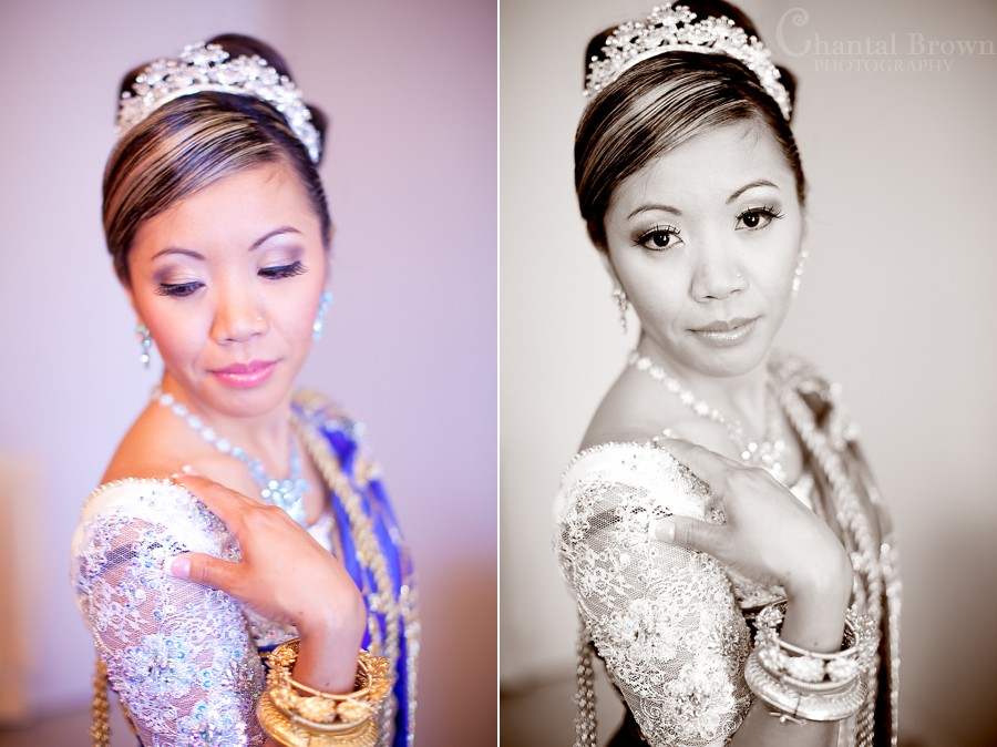 ft worth cambodian wedding bride in khmer wedding outfit with diamonds