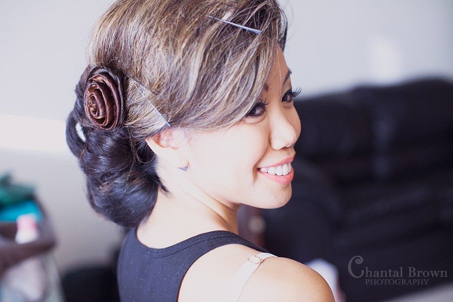ft worth cambodian wedding bride getting ready