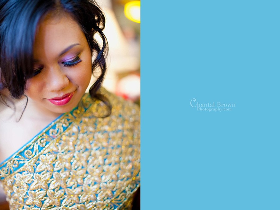 Cambodian-Khmer sparking blue wedding royal wedding gown