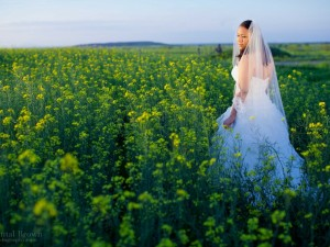 yellow-canola-flower-field-lawton oklahoma bridal portrait session Chantal Brown Photography