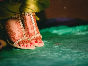 Indian Wedding at El Dorado Country Club in McKinney Texas sparkling diamond shoes showing off henna feet
