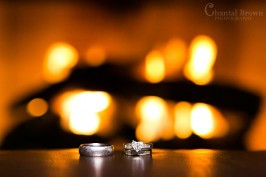 How To use Video Light to photography wedding rings by fire place Plano portrait photographer