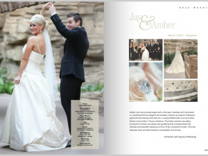 Featured in Texas Wedding Guide Magazine at Gaylord Texan hotel Dallas wedding