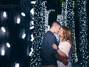 Christmas in the summer downtown Dallas engagement