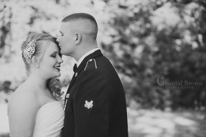 Lawton OK Military Wedding First Look black and white