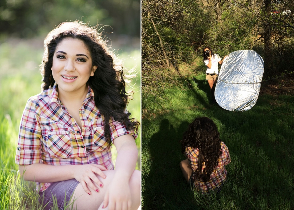 How To Use The Silver Reflector Side Senior Portrait Photography In Grapevine