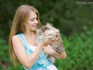 Greenville high school Addison senior portraits holding a cute bunny taken by Chantal Brown Photography.