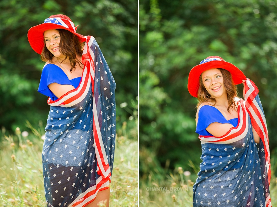 Happy 4th of July of a Mesquite high school senior portraits. She
