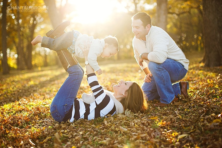Gorgeous children and family portrait in Wylie Texas park during the fall session by Chantal Brown Photography