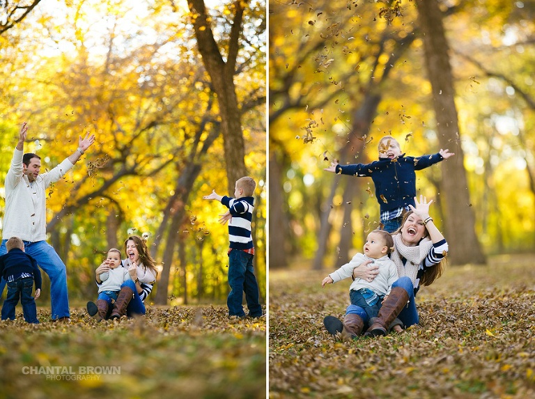 Dallas TX family portrait fall session by Chantal Brown Photography